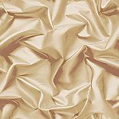 Muriva Gathered Silk Effect Wallpaper Gold - F72907