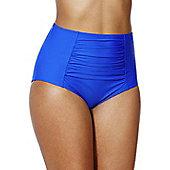 F&F Shaping Swimwear High Waisted Bikini Briefs - Cobalt