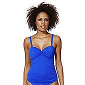 F&F Shaping Swimwear Twist Front Tankini Top - Cobalt