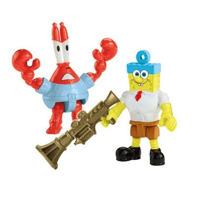 Fisher-Price Imaginext Nickelodeon SpongeBob Movie (2-Pack), Invinci Bubble and Sir Pinch-a-lot Figures