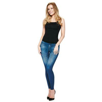 JML Trim 'N' Slim Jeans: Slimming Shapewear Jeggings (Blue-S/M)