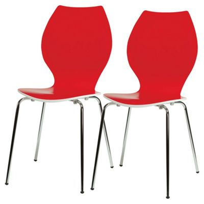 Candy Chairs Pair Red