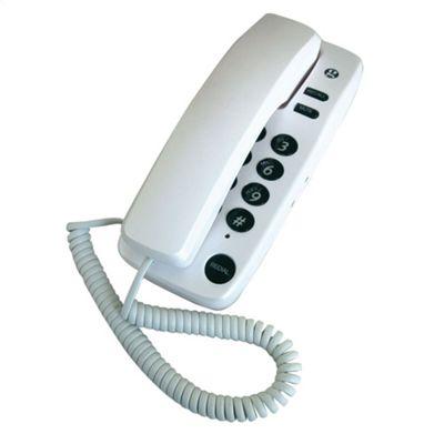 Geemarc 6050EGPW Marbella Gondola Style Corded Phone - Pearl White