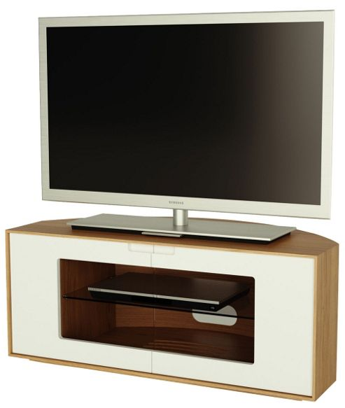 Alphason Contour Series Oak and White TV Stand for up to 47 inch TVs