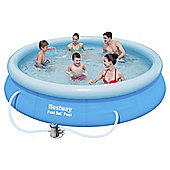 "Bestway 12ft x 30"" Fast Set Swimming Pool with Pump"
