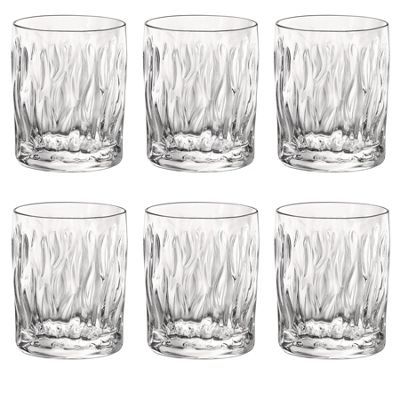 Bormioli Rocco Wind Clear Double Old Fashioned Tumblers - 350ml - Pack of 6