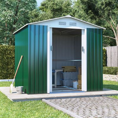 BillyOh Boxer Apex Metal Shed Garden Storage 7 x 6 Green