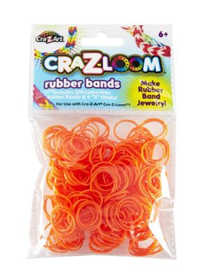 CRA-Z-LOOM Rubber Bands (Orange) - Arts and Crafts