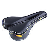 Velo Plush Deep Channel Saddle in Black