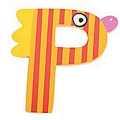 Tatiri Crazy Bird Letter P (Orange/Red)