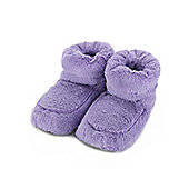 Intelex Lilac Microwavable Cozy Plush Heatable Slippers Boots