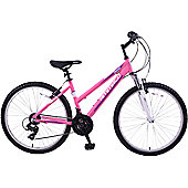 """Ammaco Denver Front Suspension 26"""" Wheel Bike 16"""" Pink"""