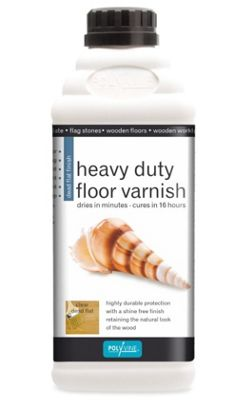 Polyvine Dead Flat Floor Varnish - 1 Litre
