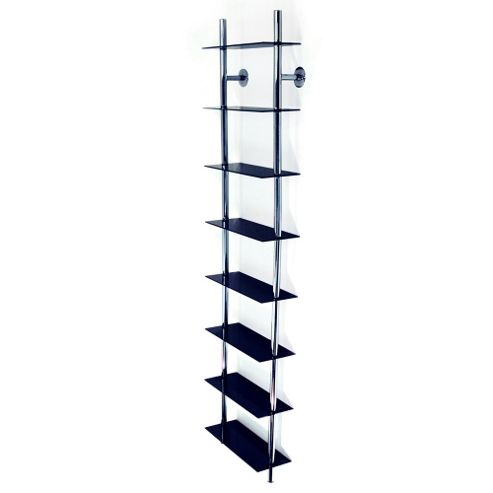 Techstyle Large Wall Mounted CD/ DVD / Media Storage Shelves