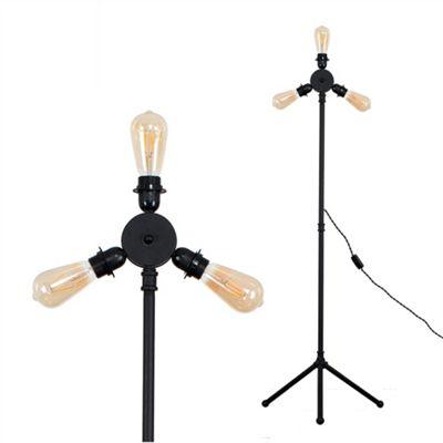 Irwin Steampunk Floor Lamp - Black