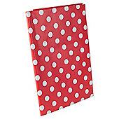 2 x Red & White Polka Dot 130 x 170cm PVC Plastic Outdoor Tablecloths