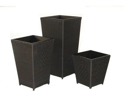 Royal Craft Cannes Planter Set - Black