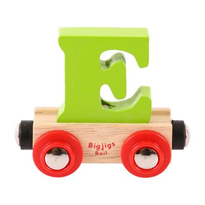 Bigjigs Rail Rail Name Letter E (Green)