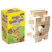 Giant Jenga Mega Tumble Tower 40 Pine Wooden Blocks Garden Game