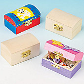 Mini Wooden Treasure Chests (Pack of 4)