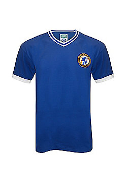 Chelsea FC Mens 1960 Retro Shirt - Blue