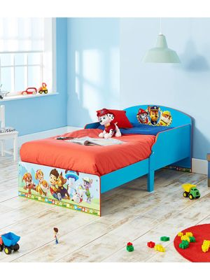 Paw Patrol Toddler Bed Blue & Foam Mattress