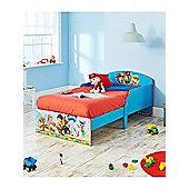 Paw Patrol Toddler Bed Blue & Foam Mattress
