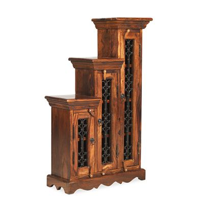Maharajah Indian Rosewood Small CD Storage Unit - RIGHT