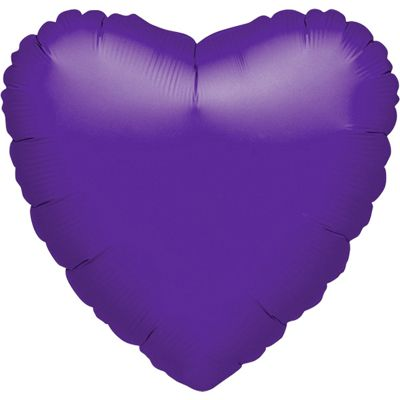 Purple Quartz Heart Balloon - 18 inch Foil