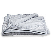 Faux Fur Silver Mink Throw Soft Warm Blanket 150 x 200cm