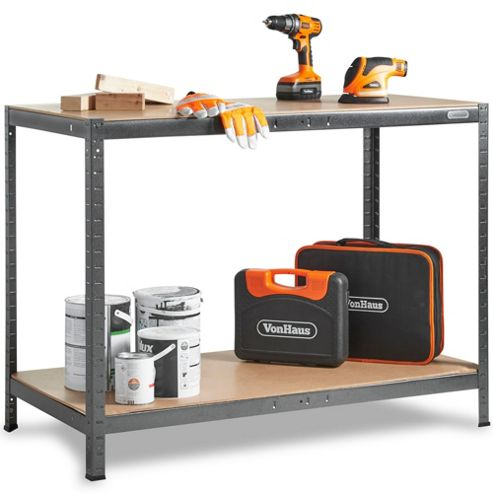 VonHaus Boltless Work bench And Storage Unit