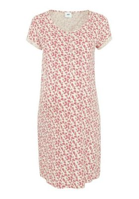 Mamalicious Splodge Print Jersey Nursing Nightie Pink XL