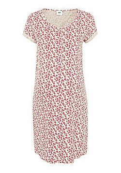 Mamalicious Splodge Print Jersey Nursing Nightie - Pink