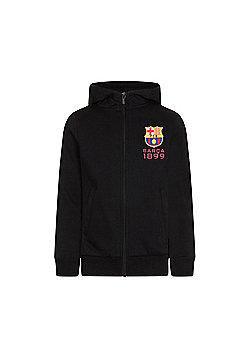 FC Barcelona Boys Zip Hoody - Black