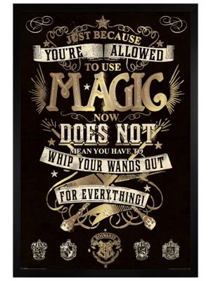Harry Potter Black Wooden Framed Magic Poster 61x91.5cm