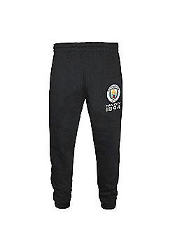 Manchester City FC Boys Slim Fit Jog Pants - Black