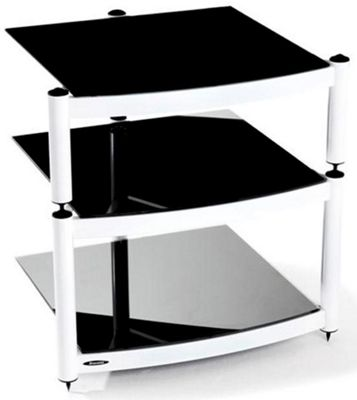 Atacama Equinox 3 shelf Hi-Fi Stand Diamond White Frame