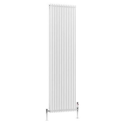 DQ Heating BKV16 White Designer Vertical Tubed Radiator 810mm High x 562mm Wide (20 sections)