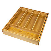 Woodluv Expandable 5-7 Compartments Bamboo Cutlery Drawer Organiser