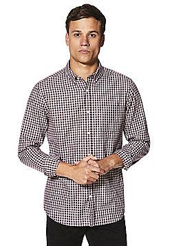 F&F Checked Shirt - Burgundy