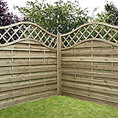 Mercia Horizontal Weave with Wavy Trellis Fence Panel 6ft Pressure Treated