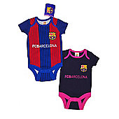 FC Barcelona Baby Kit 2 Pack Bodysuits - 2016/17 - Red