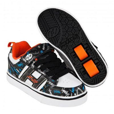 Heelys Bolt Plus Black/White/Orange/Cyan Heely Shoe JNR 12