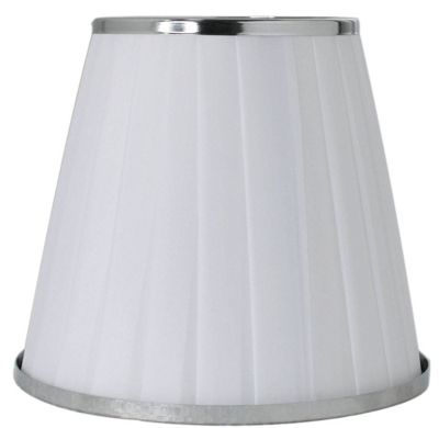 White Silk Pleated Lamp Shade Bedroom Living Decor