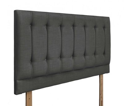 Swanglen Tamar Gem Fabric Headboard with Wooden Struts - Granite - Single 3ft