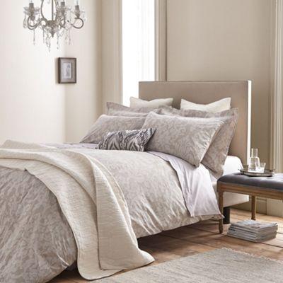 Bianca Cotton Soft Textured Cotton Jacquard Natural Duvet Cover Set - Single