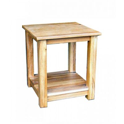 Stratton Oak Lamp Table with Shelf