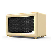 Akai-A58052C Retro Bluetooth Speaker with 5 Hour Run Time and Rechargeable Batteries in Black