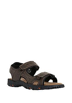 F&F Double Riptape Trekker Sandals - Brown