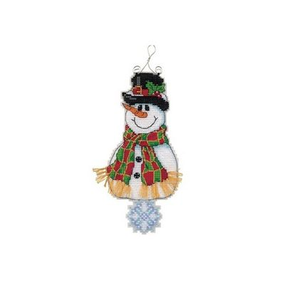 Dimensions Whimsies Smiley Snowman Counted Cross Stitch Kit